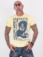Yakuza T-Shirty Love Kill Pray zólty