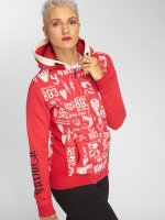 Yakuza Zip Hoodie Allover Label Flex red