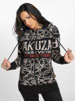 Yakuza Zip Hoodie Allover Chains svart