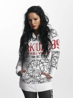 Yakuza Zip Hoodie Allover Chains white