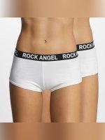Rock Angel Unterwäsche Double Pack Logo weiß
