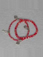 Hailys Rannekorut Chrissy punainen