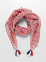 Oxbow sjaal Quaglio Printed Square rood