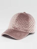 Bangastic Snapback Caps Velvet roosa