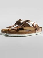 Birkenstock Claquettes & Sandales Gizeh NL SFB brun
