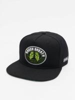 Dangerous DNGRS Snapback Caps Green Breath musta