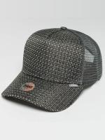 Djinns trucker cap HFT Woven Bast grijs