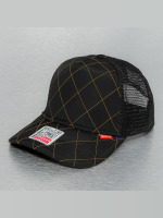Djinns Trucker Caps Hunter High Fitted czarny