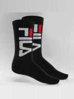 FILA Sokken Normal 2-Pair zwart