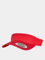 Flexfit Casquette Snapback & Strapback Curved Visor rouge