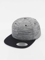 Flexfit Snapback Cap Stripes Melange Crown grau