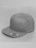 Flexfit Snapback Cap Melton Wool grau