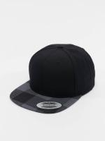 Flexfit snapback cap Cheched Flanell Peak zwart
