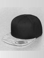 Flexfit Snapback Caps Stripes Melange Visor svart