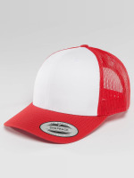 Flexfit Trucker Caps Retro Colored Front czerwony