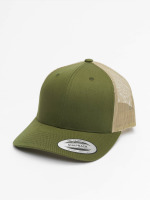 Flexfit Trucker Caps Retro zelený
