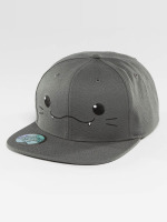 Just Rhyse Snapback Cap Kawaii Cat grigio