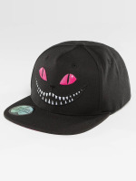 Just Rhyse Snapback Cap Grinning Cat nero