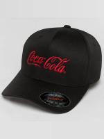 Merchcode Flexfitted Cap Coca Cola Logo èierna
