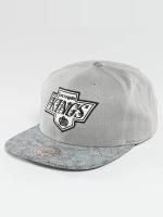Mitchell & Ness Snapback Cap NHL Cracked LA Kings grau