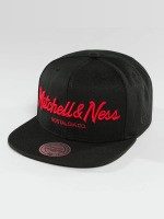 Mitchell & Ness Snapback Cap Red Pop Pinscript nero
