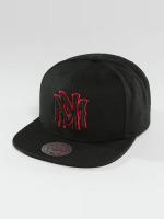 Mitchell & Ness Snapback Cap Red Pop Interlocked schwarz