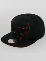 Mitchell & Ness Snapback Caps Raised Perimeter Chicago Bulls čern