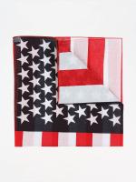 MSTRDS Bandana/Durag Stars & Stripes röd