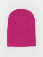 MSTRDS Beanie Basic Flap pink