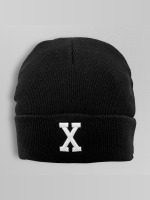 MSTRDS Beanie X Letter schwarz