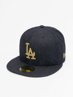 New Era Casquette Fitted Denim Quilt LA Dodgers bleu