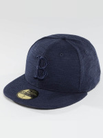 New Era Fitted Cap Slub blau