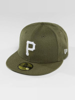 New Era Fitted Cap Seasonal Heather Pittsburgh Pirates 95Fifty olijfgroen
