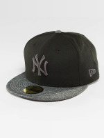 New Era Fitted Cap Grey Collection NY Yankees 59Fifty schwarz