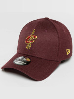 New Era Flexfitted Cap Team Heather Cleveland Cavaliers rood
