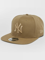 New Era Snapback Cap Canvas NY Yankees 9Fifty beige