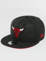 New Era snapback cap Team Heather Chicago Bulls zwart