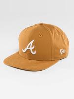 New Era Snapback Caps Atlanta Braves brazowy