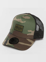 New Era Trucker Cap Script Patch camouflage