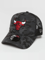 New Era Trucker Caps Camo Team Chicago Bulls barvitý