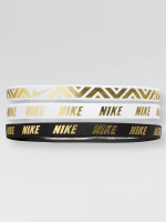 Nike Performance Bandeau Metallic 3 Pack blanc