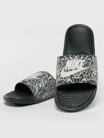 Nike Slipper/Sandaal Benassi Just Do It Print Slide zwart