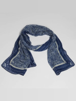 Oxbow sjaal Quadrato Printed blauw