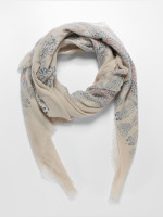 Oxbow Sjal/Duk Quimina Printed Square beige