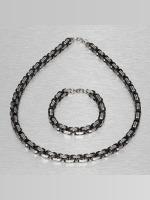 Paris Jewelry Cadena Bracelet and Necklace plata