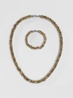 Paris Jewelry Necklace Bracelet 22cm and Necklace 60cm silver