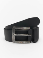 Petrol Industries riem Leather zwart