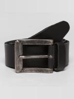 Petrol Industries riem Leather zwart