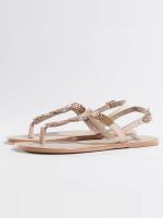 Pieces Slipper/Sandaal Carmen beige