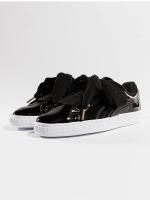 Puma sneaker Basket Heart Patent zwart